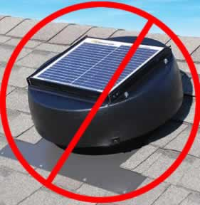 Solar attic vents are not good for energy efficiency